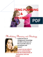 Marketing Planning & Strategy1