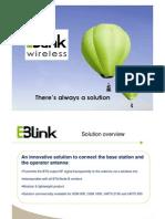 E-Blink Use Cases