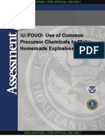 (U~~FOUO) HSA - Use of Common Precursor Chemicals to Make Homemade Explosives 08122010