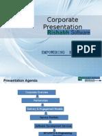 Corporate Presentation - Rishabhsoft