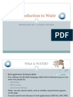 Introduction to Watir