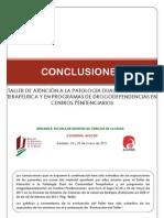Conclusiones Taller Atención Patología Dual