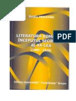 Ovidiu Moceanu Literatura Romana La Inceputul Sec 20
