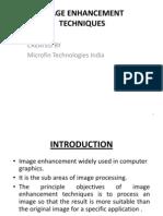 Image Enhancement Techniques
