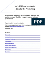 Maintaining Standards Summary Report