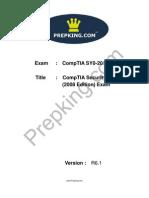 Prepking SY0-201V3 Exam Questions