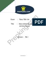 Prepking TB0-104 Exam Questions