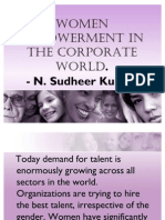 Women Empowerment in the Corporate World