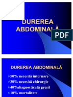 DUREREA-ABDOMINALA