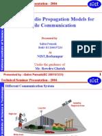 Survey of Radio Propagation Models for Mobile Communication