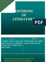 Divisions of Literature