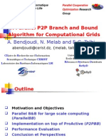 CCGRID07 - A Parallel P2P Branch and Bound Algorithm for Computational Grids
