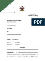 The State v Kafuro Thepphille Sentence. CC 26 - 2010. Lie Ben Berg, J. 07 July 2011