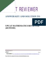 UPCAT Math Reviewer Solution