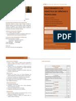 Folheto - Doutoramento em Didáctica de Ciências e Tecnologia