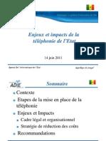 ADIE Enjeux Et Impacts Telephonie de La Telephonie
