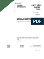 ABNT NBR ISO 17025-2005