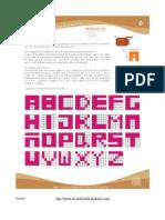 Pulsera Con Nombre - Diagrama de Letras