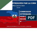 PROJETS APPROUVES PAR LA CIRH - Mise à jour du statut juin 2011