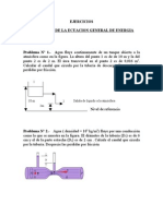 Ejercicios Sobre Aplicacion de La Ecuacion General de Energia-Bernoulli