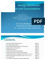 Production and Consumption of Energy in the World (Dwi Sunu - Imam Rahman h)