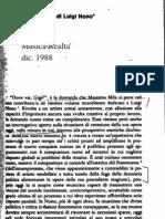Piccardi, Il Messaggio totale di L. Nono.