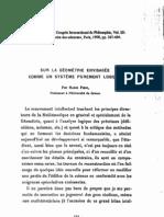 Pieri, Sur la Géométrie envisagée comme un système purament logique