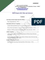 IEEE 2011 Titles