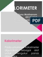 Kalorimeter (Dwi Sunu M. - 091711012)
