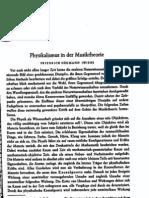 Neumann, Physikalismus in der Musiktheorie
