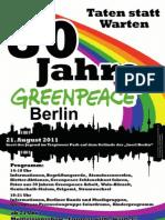 30 Jahre Greenpeace Berlin Plakat