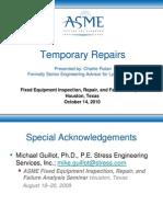 ASME Temporary Repairs 101410-1