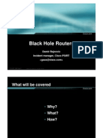Black Hole Routers