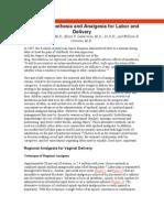 Anestesi Labor & Delivery