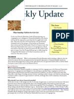 Weekly Update 2011.21.7