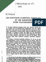 Potiron, Aristide Quintilien