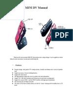 Mini Dv d001 Manual