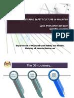 COSH2011 FOSTERING SAFETY CULTURE IN MALAYSIA Dato Johari