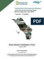 Road Design Standards Study Agust 2007