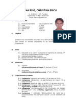 CV Christian E Capcha Rios