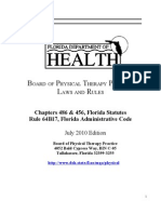 Florida PT Laws and Rules