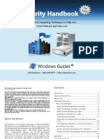 PC Security Handbook Defensive Computing Techniques to Help You Avoid Malware and Data Loss