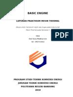 Laporan Praktikum Basic Engine (Pengenalan Elemen Mesin)