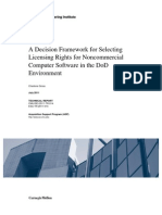 A Decision Framework for Selecting Licensing Rights for Noncommercial Computer Software in the DoD Environment