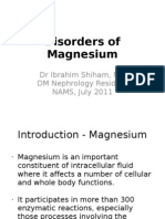 Disorders of Magnesium