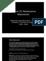 Renaissance & Mannerism