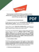 Posicionamiento VS el Acuerdo contra Falsificación Comercial ACTA