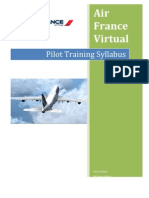 Air France Virtual Pilot Training Syllabus [DRAFT 1]
