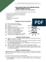 instruções+para+uso+do+multimetro+digital+minipa+ET-2210