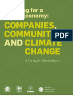 Adapting for a Green Economy; Companies, Communities and Climate Change